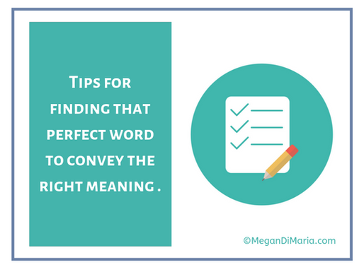 Choosing the best word in your writing