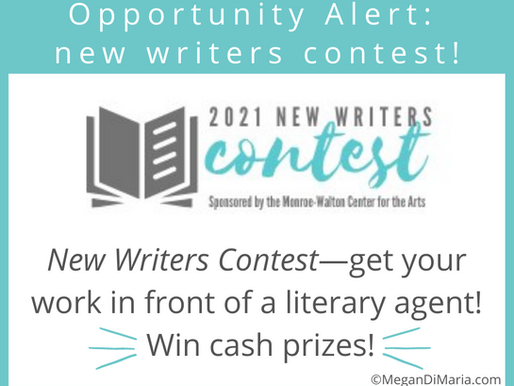 Opportunity alert: NEW writers contest!