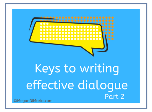 Keys to writing effective dialogue, part 2