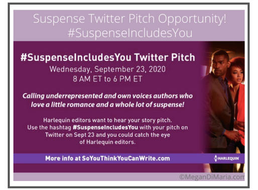 #Opportunity Alert for Suspense Authors