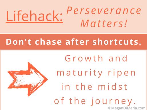 Perseverance matters!