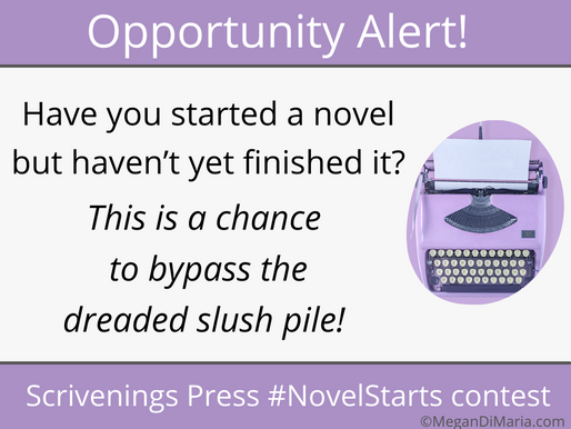 Opportunity alert: Scrivenings Press #NovelStarts contest