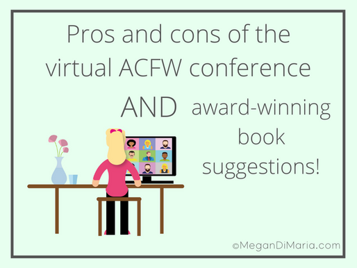 Pros and cons of the virtual ACFW conference AND book suggestions