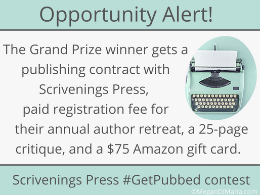 Opportunity alert: Scrivenings Press #GetPubbed contest