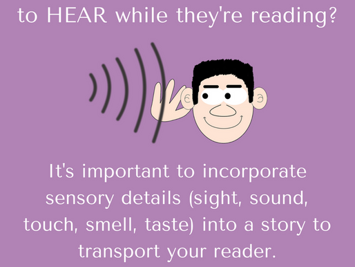 What do readers to hear while they're reading?