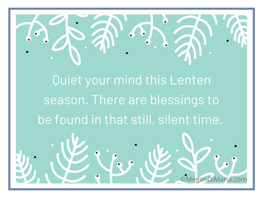 Suggestions for Lent 2020
