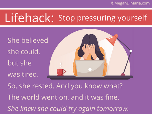 Why you should stop pressuring yourself