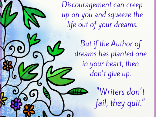 A Word of Encouragement for Writers
