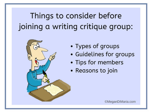Tips and guidelines for author critique groups