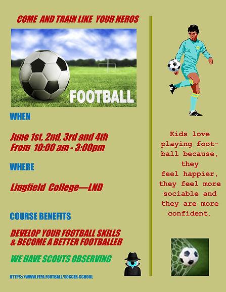 Lingfield Football Academy June 2021 Cou