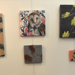 Stretched fabric small paintings.jpg