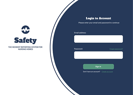 Incident Reporting System Prototype - Login