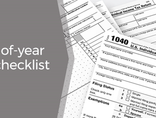 End of Year Tax Checklist