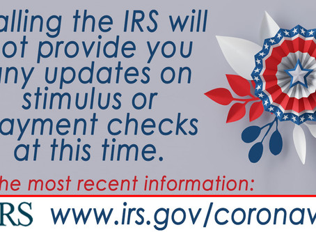 Even the IRS doesn't know yet!