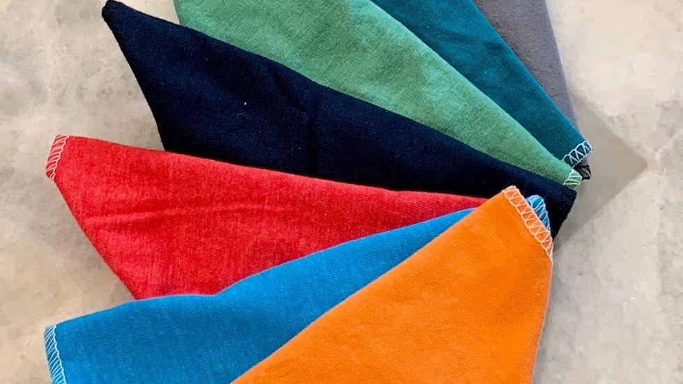 48 Adult Cotton Masks.  Assorted Colors.