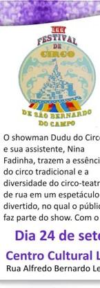 III Festival de circo de São Bernardo do Campo