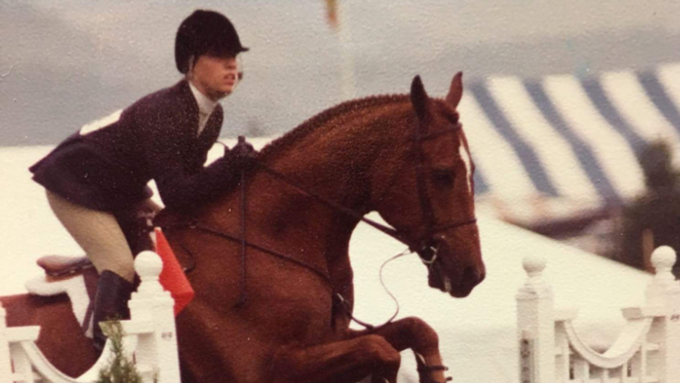 Laura Dapuzzo competing on Donnie later retired to Orchard Equine Retirement, the premier horse reti