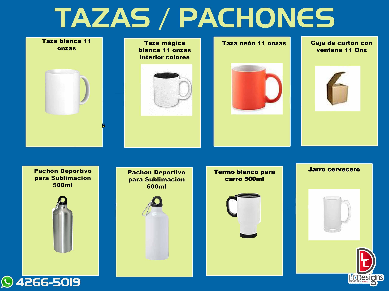 TAZAS / PACHONES