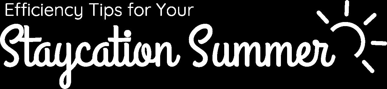 Staycation Logo - White