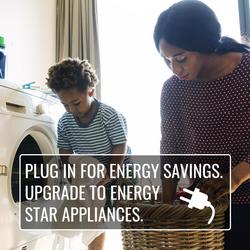 Rebates on select Energy Star applia
