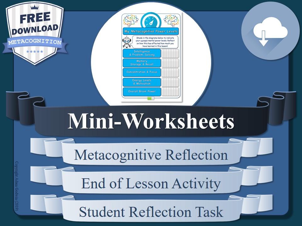 Metacognition Worksheets