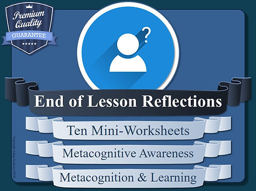 Metacognition Mini-Worksheets (x10)
