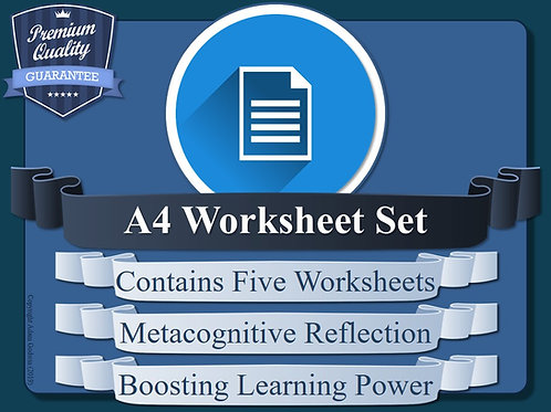 Metacognition Student Reflection Worksheets (A4) [x5]