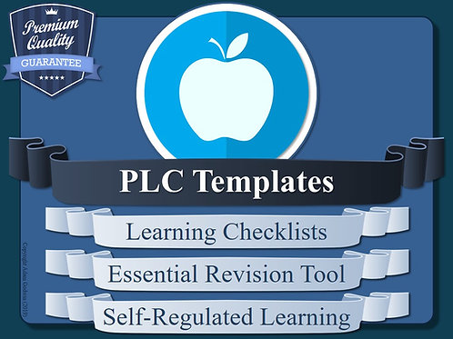 Personal Learning Checklist (PLC) Templates (x4)