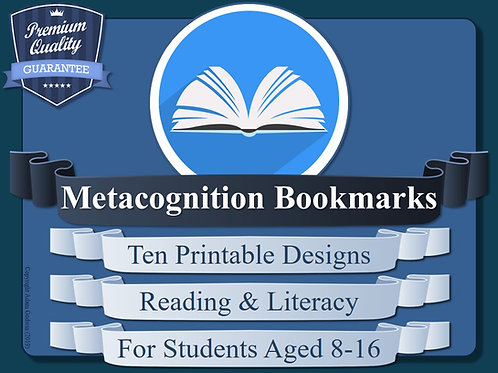 Metacognition Bookmarks (x10)