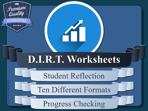DIRT Worksheet Collection (Dedicated Improvement & Reflection Time)