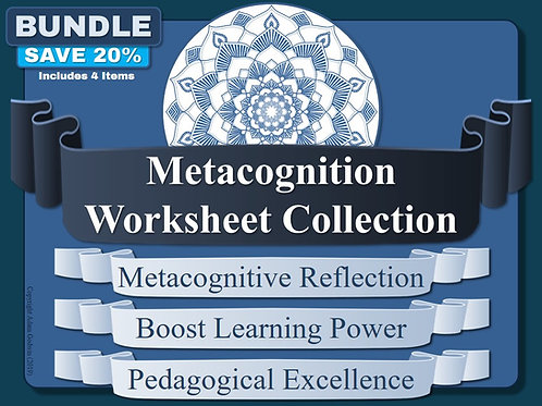 The Metacognition Worksheet Pack