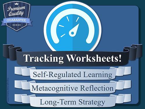 Tracking Worksheets for Metacognition & Self-Regulation