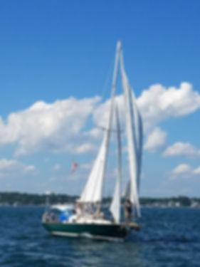 Sailing on Tall Tales, Mystic, CT, Sailing Mystic CT