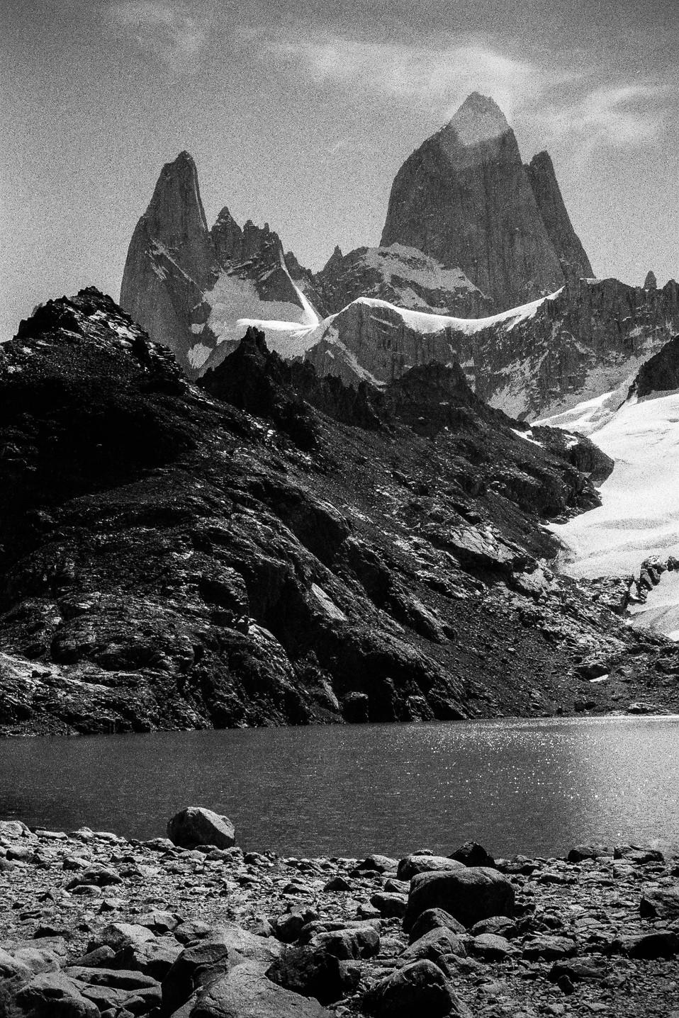 Monte Fitz roy El Chaltén, Argentina  . Analogic 2016 © Jérémy Pernet