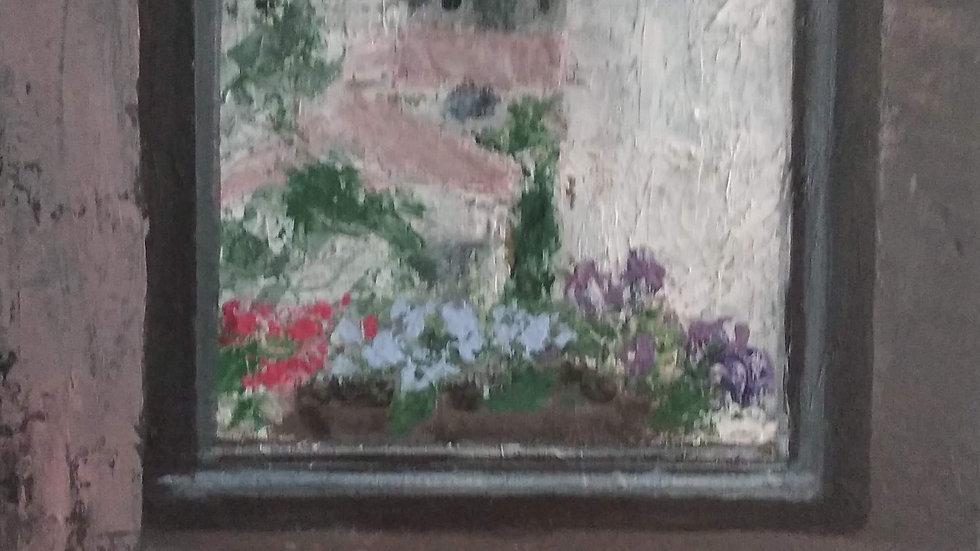 נוף גבעתיים מבעד לחלון