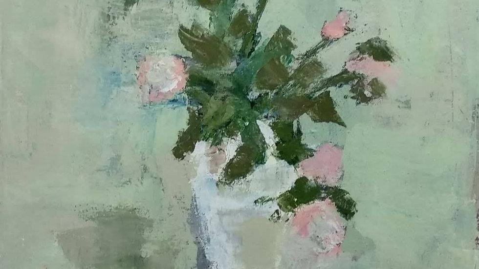 אגרטל עם ורדים