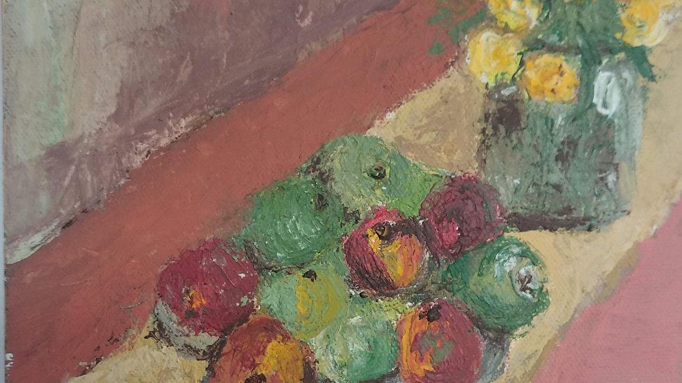 פרחים ותפוחים