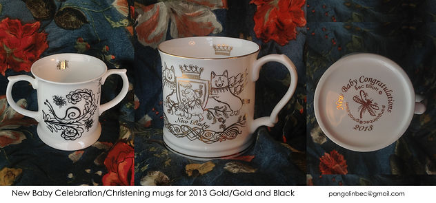 Christening mugs