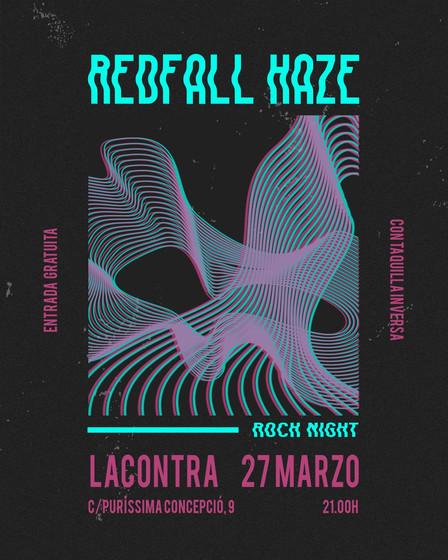 """CANCELADO: Concierto """"RedFall Haze"""" (Rock Alternativo)."""