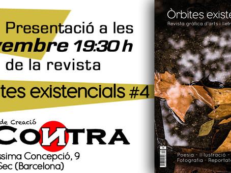 """Presentación del nº 4 de la Revista artística """"Òrbites Existencials"""""""