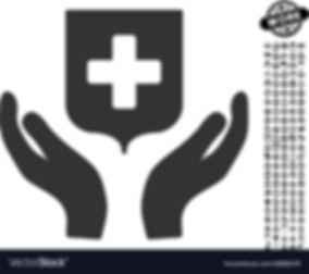 medical-shield-care-hands-icon-with-prof