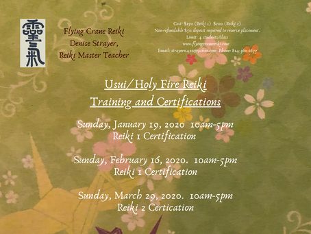 Usui/Holy Fire Reiki 2 Training and Certification