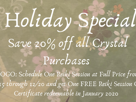 HOLIDAY SPECIAL at Flying Crane Reiki!!!