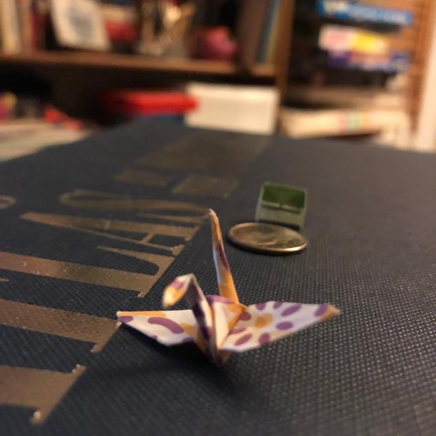 Tiny Reiki Crane