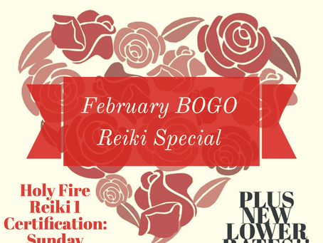 FEBRUARY SPECIALS at Flying Crane Reiki!