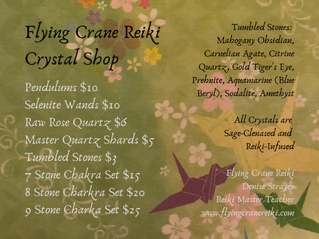 POP-UP Crystal Shop Open for Business!!