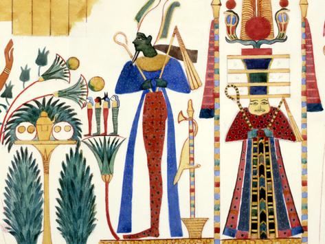 Nelle profondità del blu egizio.