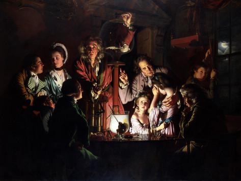 L'inquietante esperimento di Joseph Wright of Derby.