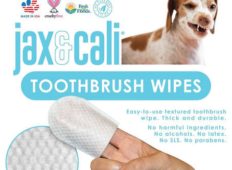 Review: All Natural Toothbrush Wipes for  Pets from Jax & Cali