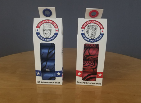 Pet Product Review: Smear Campaign Trump and Biden Pet Waste Bags from Metro Paws